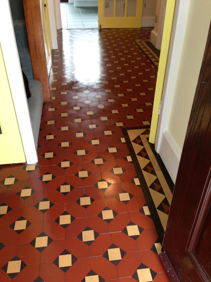 Cleaning Victorian Floor Tiles